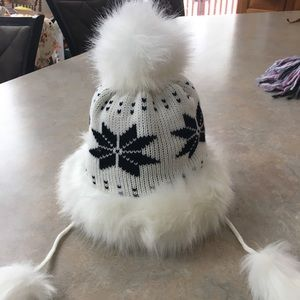 Black and White Winter Hat
